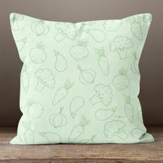 Green Vegetables Throw Pillow