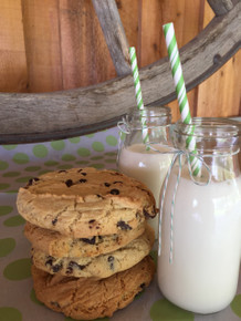 Chico Chocolate Chip Cookies and Milk
