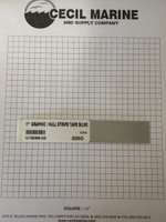 """1"""" GRAPHIC / HULL STRIPE TAPE SILVER - Sorry, this item is no longer available"""
