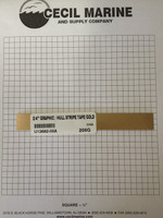 """3/4"""" GRAPHIC / HULL STRIPE TAPE GOLD U13682-05A *** Sorry no longer available ***"""