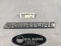 """SIGNATURE NAME DECAL / LOGO 10 3/4"""" X 1 3/8""""  ** IN STOCK & READY TO SHIP! **"""