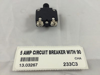 5 AMP CIRCUIT BREAKER WITH 90 DEGREE TERMINALS