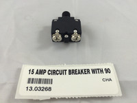 15 AMP CIRCUIT BREAKER WITH 90 DEGREE TERMINALS