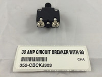 30 AMP CIRCUIT BREAKER WITH 90 DEGREE TERMINALS