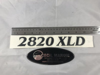 2820 XLD PARKER HULL DESIGNATION DECAL