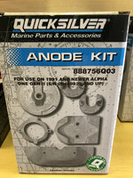 $65.99 ** ANODE KIT - SALT WATER ALPHA GEN II 1991 & UP  ** IN STOCK AND READY TO SHIP