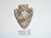 Philmont Scout Ranch Plaster Neckerchief Slide, Tooth of Time