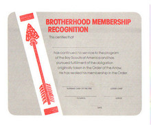 OBSCURE National Issue O.A. Brotherhood Certificate