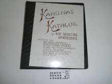 Kahuna Katalog of Boy Scout Handbooks, 1st Edition 1st Printing, Rare, Out of Print