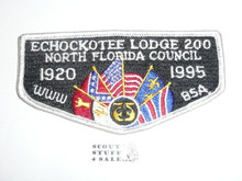 Order of the Arrow Lodge #200 Echockotee s18 Flap Patch