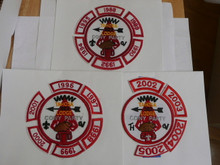 Tahosa O.A. Lodge #383 Lodge Cony Party 1988-2005 Segment Patch Collection, Only Segments Included, 1991 & 1993 missing