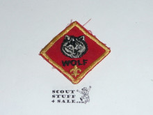 Wolf Cub Scout Rank, twill, 70's, lt use