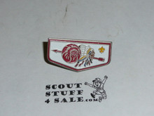 Order of the Arrow Ordeal Flap Pin with arrow through logos