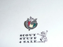 National Eagle Scout Association Lapel Pin, shiny chrome