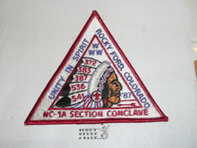 Section / Area NC1A Order of the Arrow Conference Jacket Patch, 1987