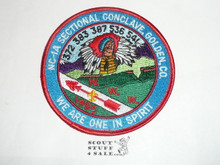"Section / Area NC1A Order of the Arrow Conference 4"" round Patch, 1985"