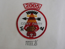 Tahosa O.A. Lodge #383 Lodge Cony Party 2005 Segment Patch, Only Segment Included