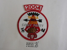 Tahosa O.A. Lodge #383 Lodge Cony Party 2004 Segment Patch, Only Segment Included