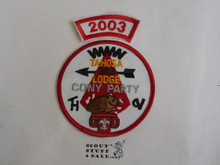 Tahosa O.A. Lodge #383 Lodge Cony Party 2003 Segment Patch, Only Segment Included