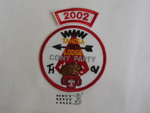 Tahosa O.A. Lodge #383 Lodge Cony Party 2002 Segment Patch, Only Segment Included