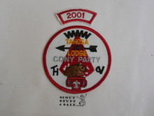 Tahosa O.A. Lodge #383 Lodge Cony Party 2001 Segment Patch, Only Segment Included