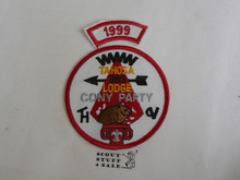 Tahosa O.A. Lodge #383 Lodge Cony Party 1999 Segment Patch, Only Segment Included
