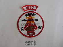 Tahosa O.A. Lodge #383 Lodge Cony Party 1997 Segment Patch, Only Segment Included