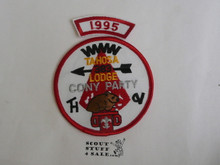 Tahosa O.A. Lodge #383 Lodge Cony Party 1995 Segment Patch, Only Segment Included