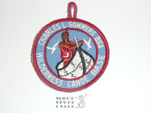 Charles L. Sommers Wilderness Canoe Base C/E Medium Blue Twill Patch With Embr. Loop