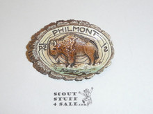 Philmont Scout Ranch Plaster Neckerchief Slide, Buffalo Side View