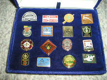 1987-1988 World Boy Scout Jamboree Commemorative Pin Set