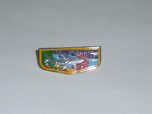 Malibu O.A. Lodge #566 Flap Hat Pin from 1980's Special bdr- Scout