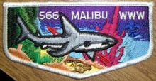 Order of the Arrow Lodge #566 Malibu S20 2007 Flap Patch - Scout