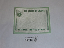 National Camping School Name Tag