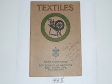 Textiles Merit Badge Pamphlet , 1925 Printing