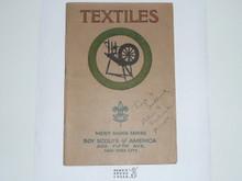 Textiles Merit Badge Pamphlet , 1925 Printing