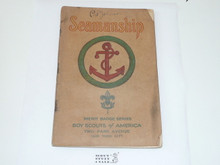 Seamanship Merit Badge Pamphlet , 4-34 Printing, Some Spine Wear