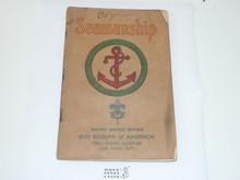 Seamanship Merit Badge Pamphlet , 4-34 Printing, Some Spine Wear
