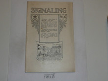 Signaling Merit Badge Pamphlet, 1924 Printing