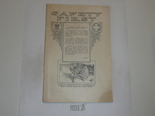 Safety First Merit Badge Pamphlet, 1923 Printing