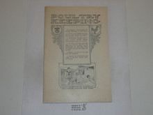 Poultry Keeping Merit Badge Pamphlet, 1923 Printing