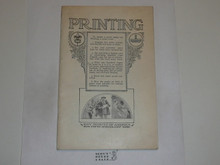 Printing Merit Badge Pamphlet, 1923 Printing