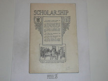 Scholarship Merit Badge Pamphlet, 1922 Printing