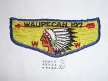 Order of the Arrow Lodge #197 Waupecan s1 Flap Patch, lt use