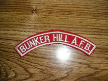 BUNKER HILL A.F.B. Red & White Community Strip - RARE