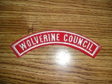 WOLVERINE Council Red/White Council 1/2 Strip - Scout