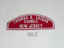 Thomas A. Edison Council Red/White Council Shoulder Patch - Boy Scout
