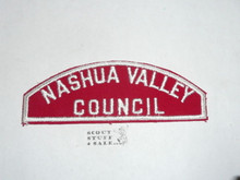 NASHUA VALLEY COUNCIL Red/White Boy Scout Council Strip
