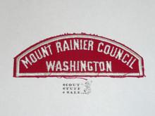 Mount Rainer Council Red/White Council Shoulder Patch - Boy Scout
