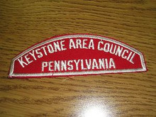 Keystone Area Council Red/White Council Strip - Scout
